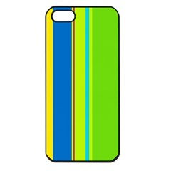 Colorful lines Apple iPhone 5 Seamless Case (Black)