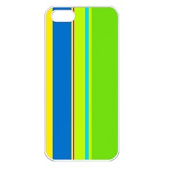 Colorful lines Apple iPhone 5 Seamless Case (White)