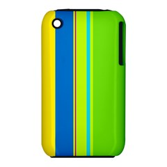 Colorful lines Apple iPhone 3G/3GS Hardshell Case (PC+Silicone)