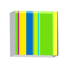 Colorful lines 4 x 4  Acrylic Photo Blocks
