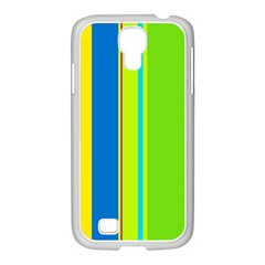 Colorful lines Samsung GALAXY S4 I9500/ I9505 Case (White)