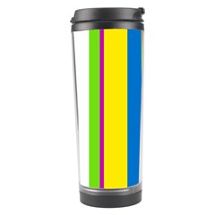 Colorful lines Travel Tumbler