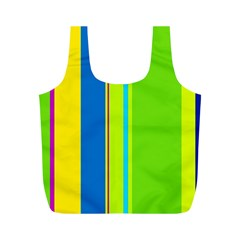 Colorful lines Full Print Recycle Bags (M)