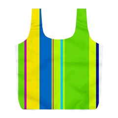 Colorful lines Full Print Recycle Bags (L)