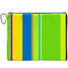 Colorful lines Canvas Cosmetic Bag (XXXL)