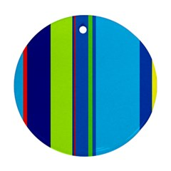 Blue and green lines Ornament (Round)