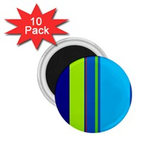Blue and green lines 1.75  Magnets (10 pack)