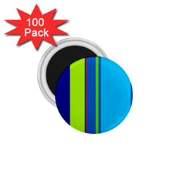 Blue and green lines 1.75  Magnets (100 pack)