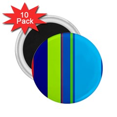 Blue and green lines 2.25  Magnets (10 pack)