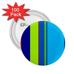 Blue and green lines 2.25  Buttons (100 pack)