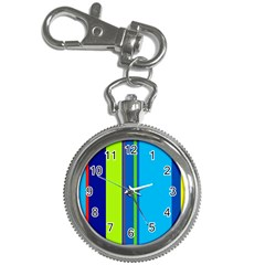 Blue and green lines Key Chain Watches