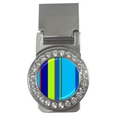 Blue and green lines Money Clips (CZ)