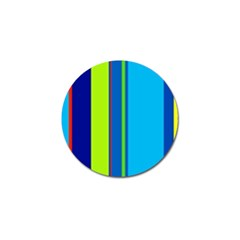 Blue and green lines Golf Ball Marker (10 pack)