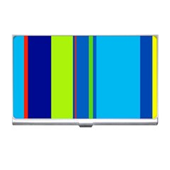 Blue and green lines Business Card Holders