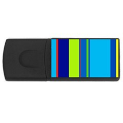 Blue and green lines USB Flash Drive Rectangular (2 GB)