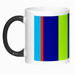 Blue and green lines Morph Mugs