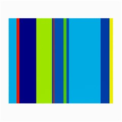 Blue and green lines Small Glasses Cloth