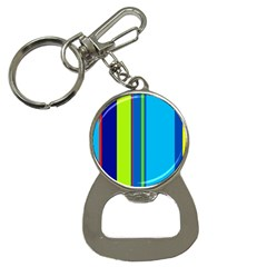 Blue and green lines Bottle Opener Key Chains
