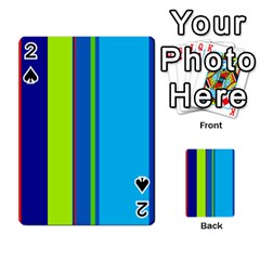 Blue and green lines Playing Cards 54 Designs
