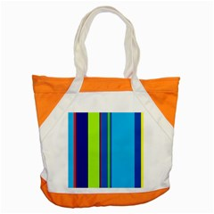 Blue and green lines Accent Tote Bag