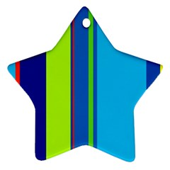 Blue and green lines Star Ornament (Two Sides)