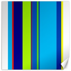 Blue and green lines Canvas 20  x 20
