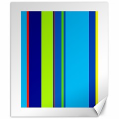 Blue and green lines Canvas 20  x 24
