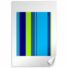 Blue and green lines Canvas 20  x 30