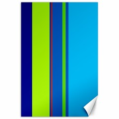 Blue and green lines Canvas 24  x 36
