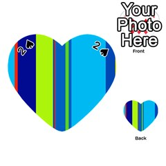 Blue and green lines Playing Cards 54 (Heart)