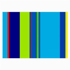 Blue and green lines Large Glasses Cloth (2-Side)