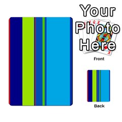 Blue and green lines Multi-purpose Cards (Rectangle)