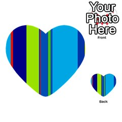 Blue and green lines Multi-purpose Cards (Heart)