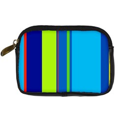 Blue and green lines Digital Camera Cases