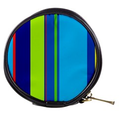Blue and green lines Mini Makeup Bags