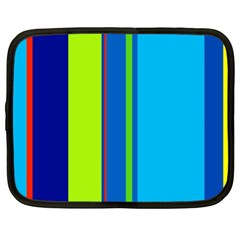 Blue and green lines Netbook Case (XL)