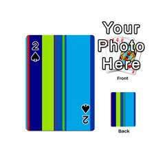 Blue and green lines Playing Cards 54 (Mini)