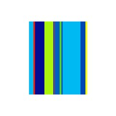 Blue and green lines Shower Curtain 48  x 72  (Small)