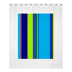 Blue and green lines Shower Curtain 60  x 72  (Medium)
