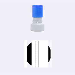Blue and green lines Rubber Round Stamps (Small)