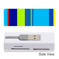 Blue and green lines Memory Card Reader (Stick)