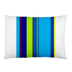 Blue and green lines Pillow Case (Two Sides)