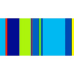 Blue and green lines YOU ARE INVITED 3D Greeting Card (8x4)