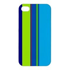 Blue and green lines Apple iPhone 4/4S Hardshell Case