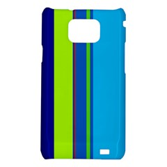 Blue and green lines Samsung Galaxy S2 i9100 Hardshell Case