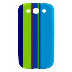 Blue and green lines Samsung Galaxy S III Hardshell Case