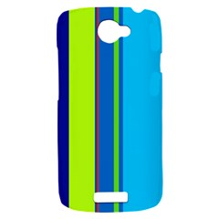Blue and green lines HTC One S Hardshell Case