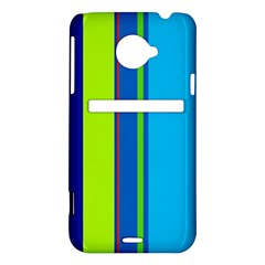 Blue and green lines HTC Evo 4G LTE Hardshell Case