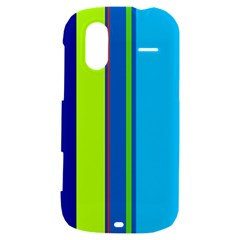 Blue and green lines HTC Amaze 4G Hardshell Case
