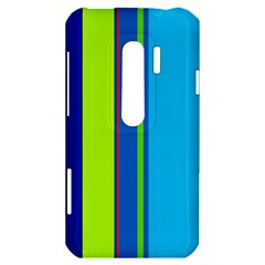 Blue and green lines HTC Evo 3D Hardshell Case